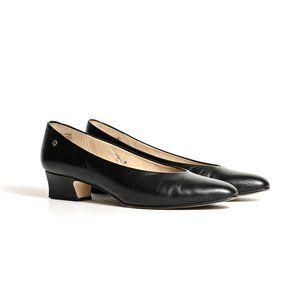 Black Leather Classic Heels - Etienne Aigner - 6.5